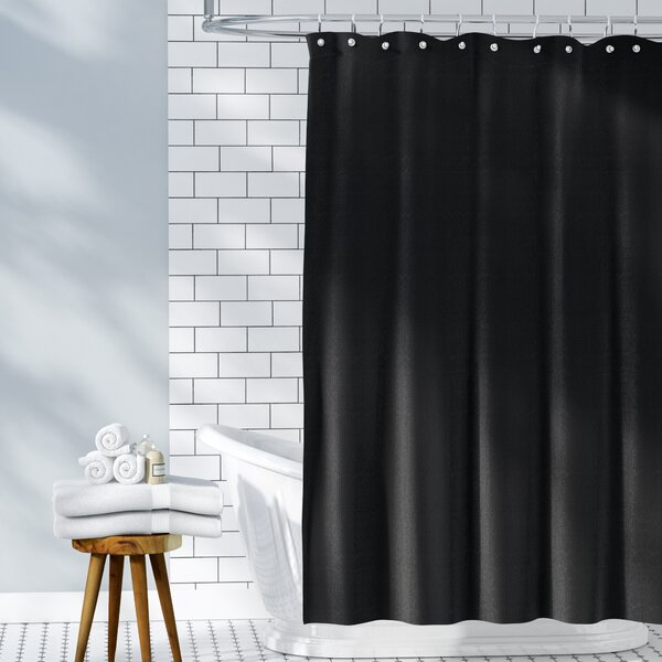 Waffle Weave 100% Cotton Shower Curtain by Symple Stuff